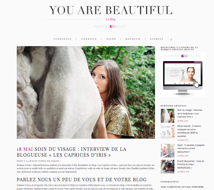 article presse blogueuse beaute