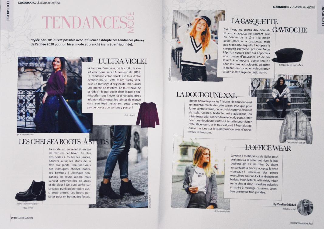 influence magazine fevrier 2018 les caprices d iris