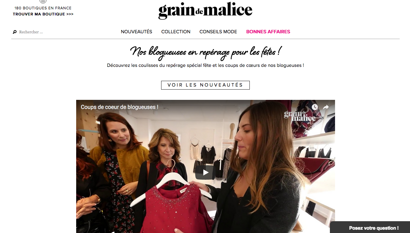 video nouvelle collection grain de malice