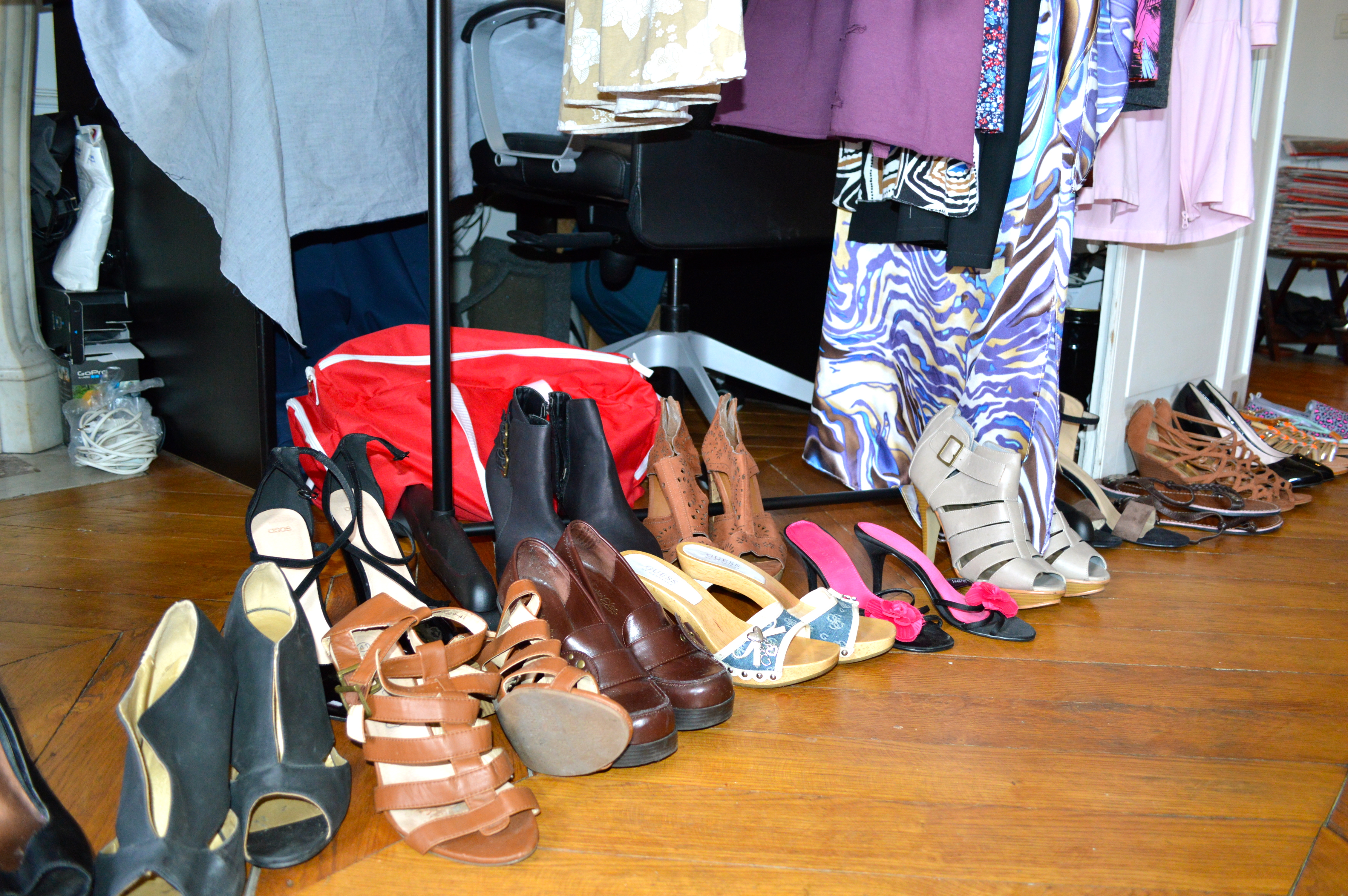 chaussures vide dressing