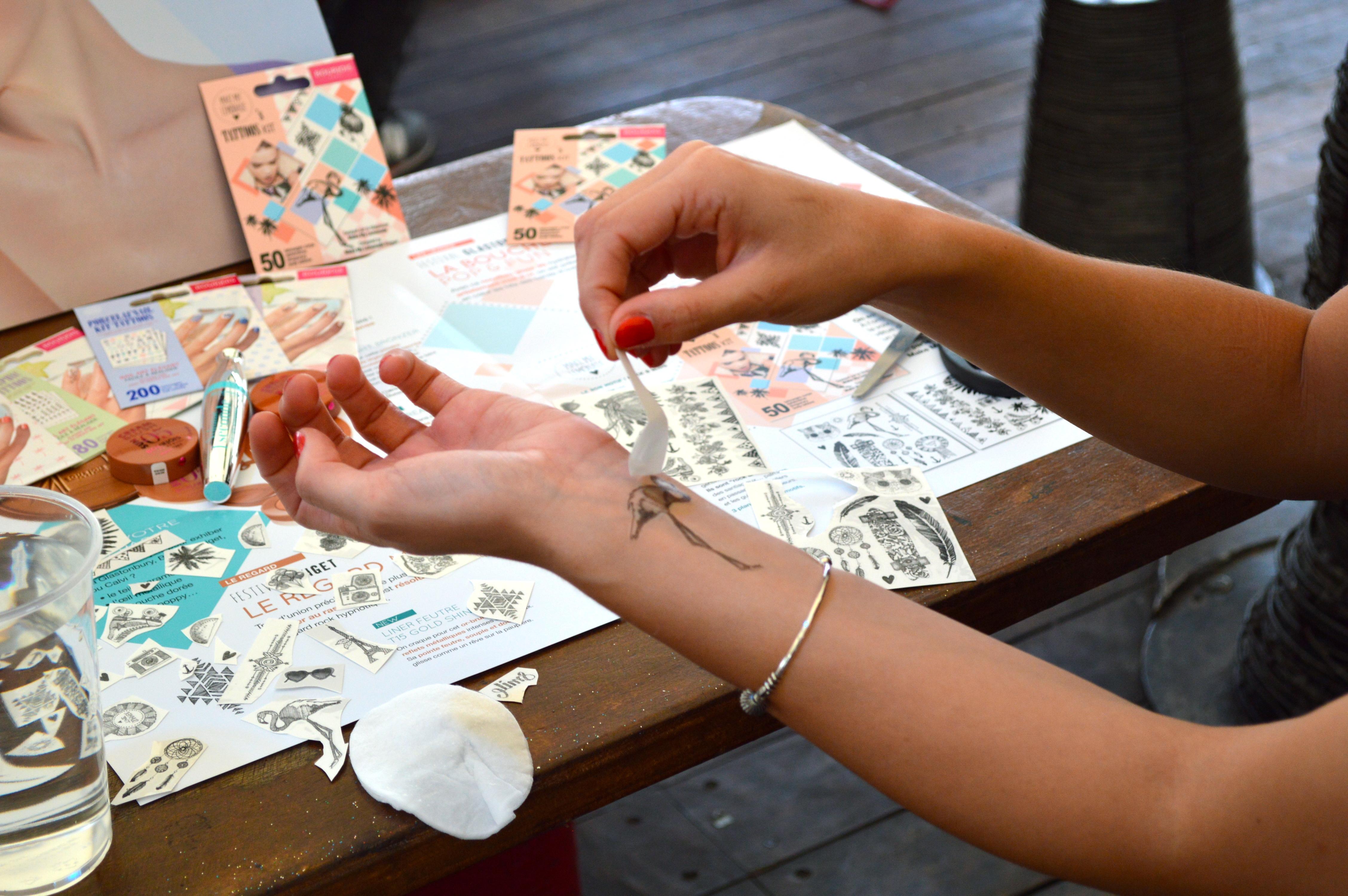 tatouages éphémères bourjois