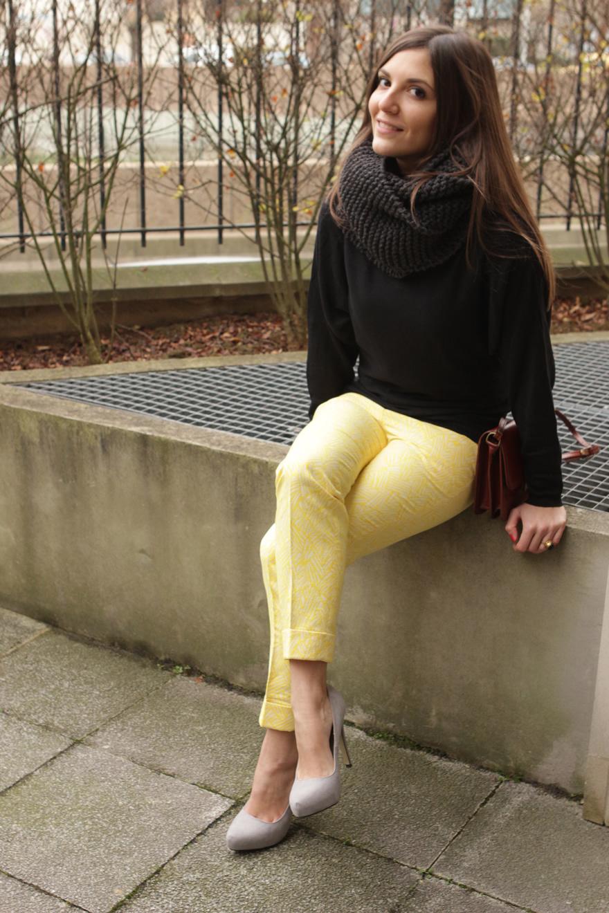 look pantalon jaune