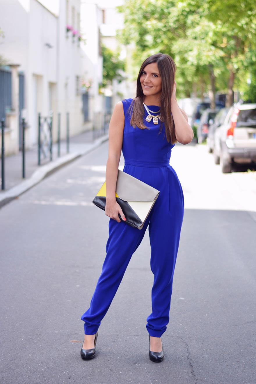 combinaison bleue Marion Kenezi