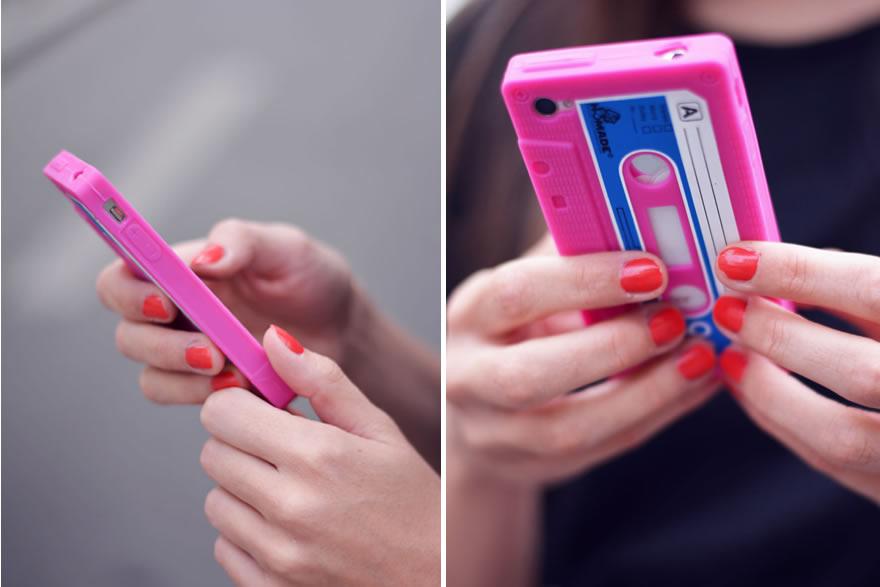 iphone cassette rose