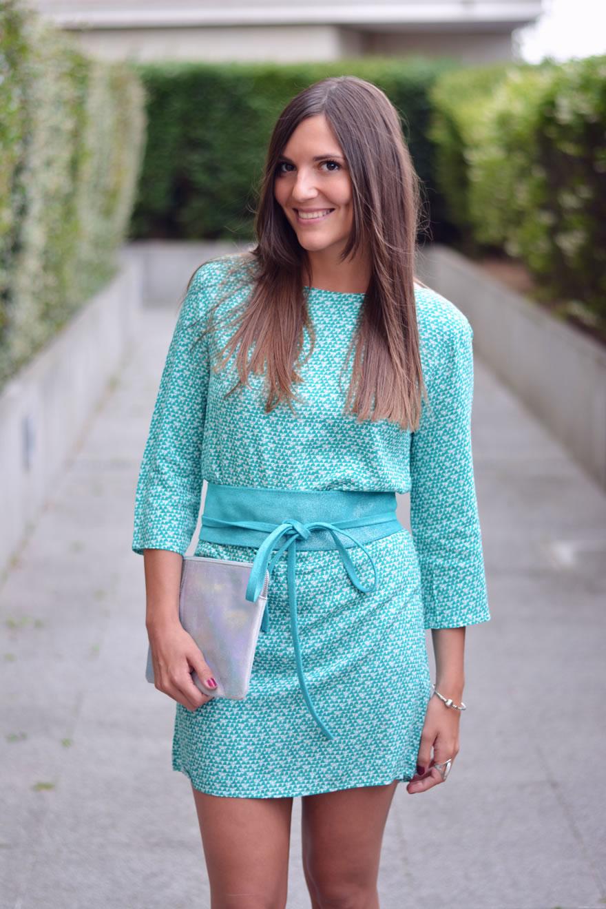 comment porter la robe turquoise