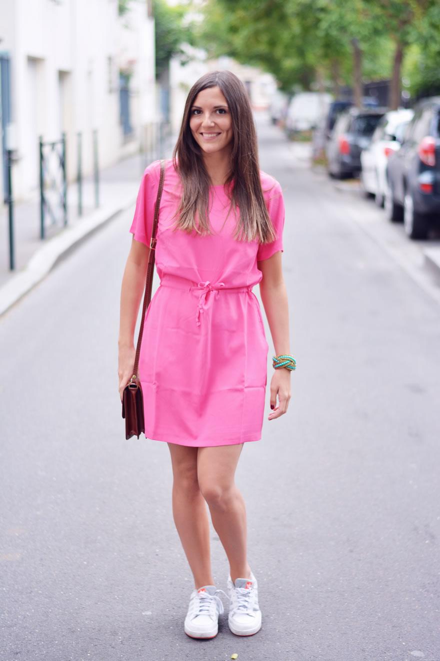 comment porter la robe rose