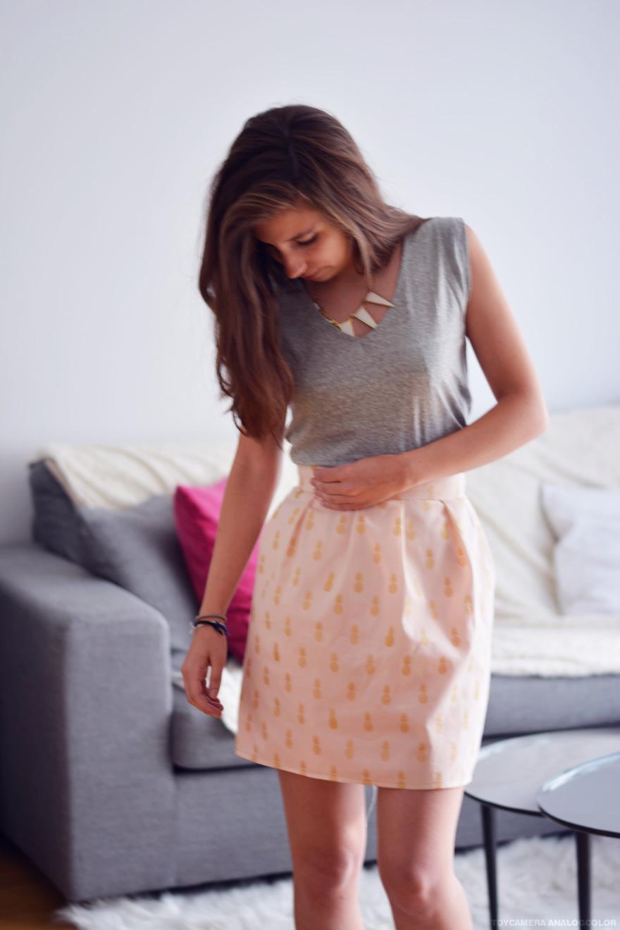 coudre une jupe plissee