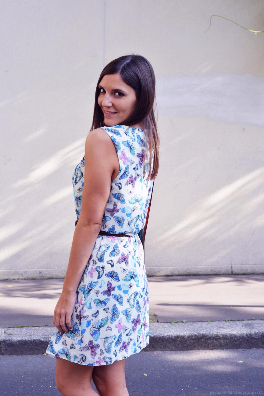 robe imprimée papillons