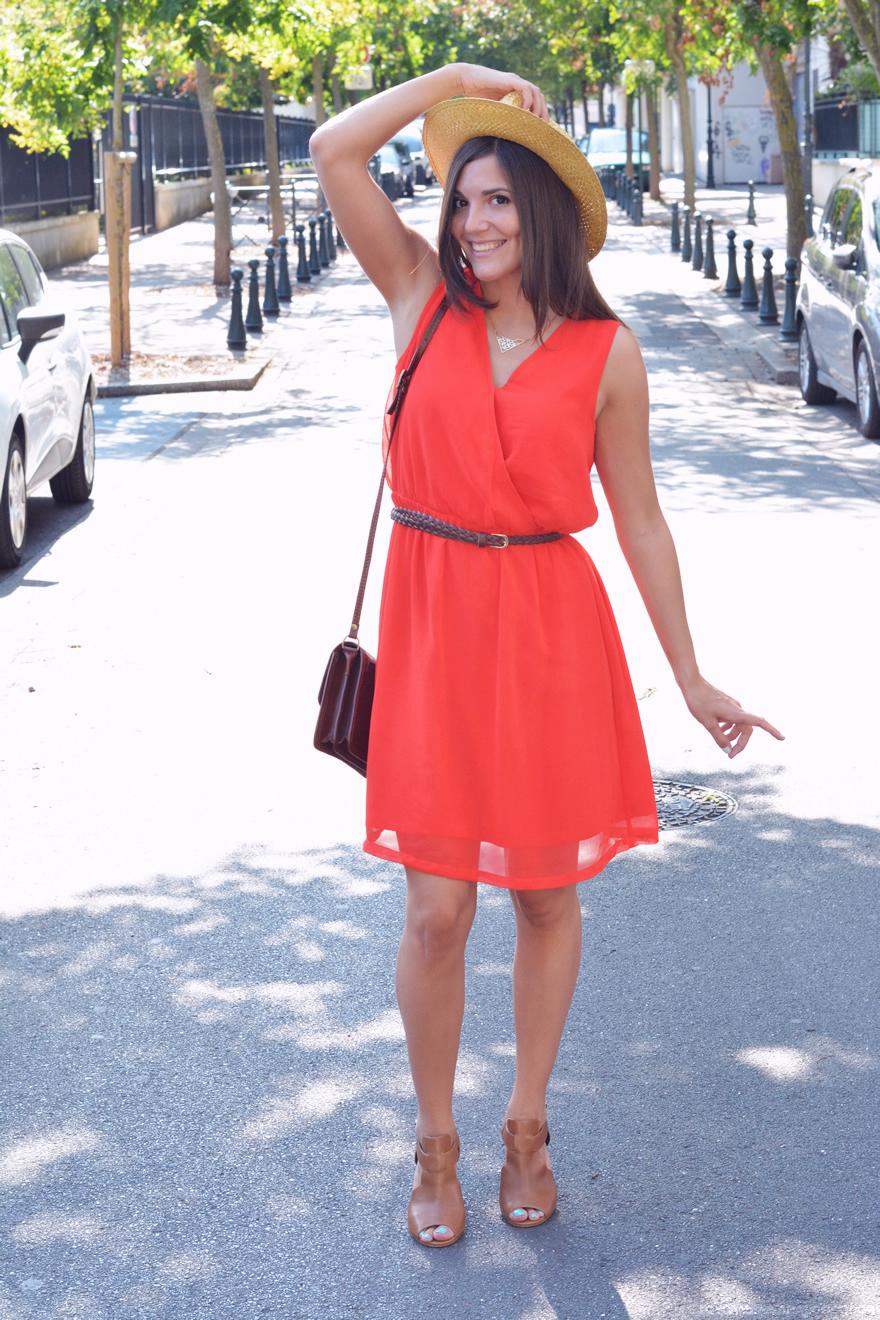 robe rouge kiabi