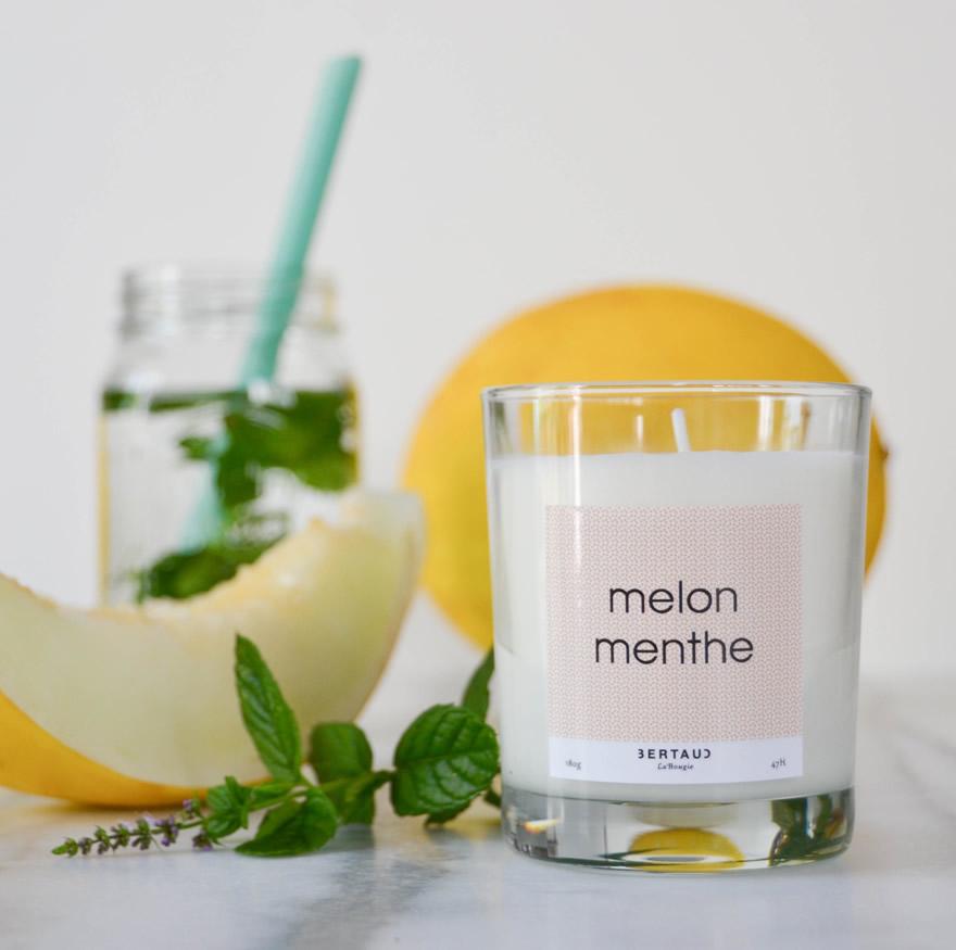 Bougie melon-menthe 1