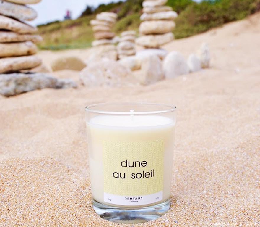 bougie dune au soleil