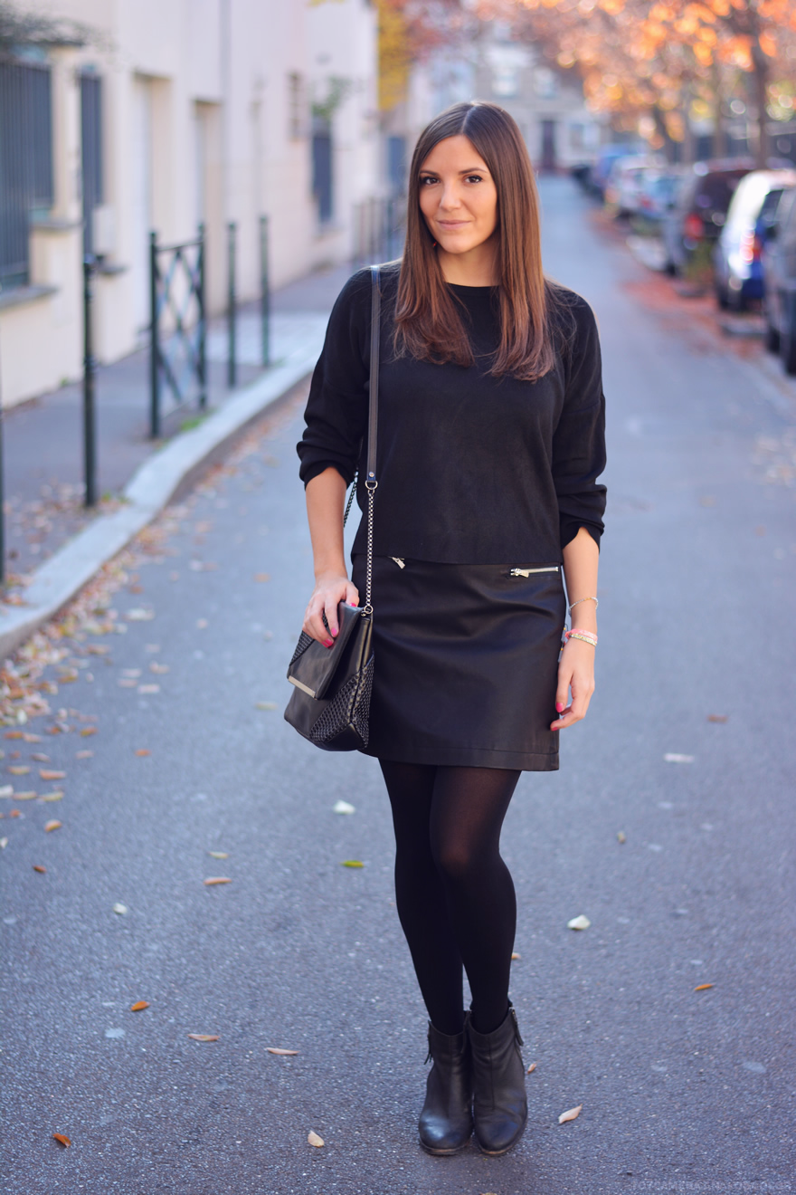 comment porter le total look noir