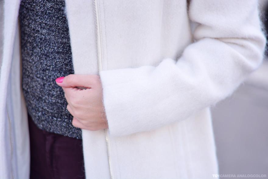 manteau blanc en laine