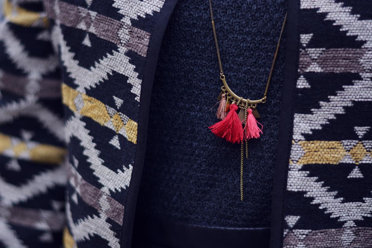 sautoir mementomori bijoux pompon