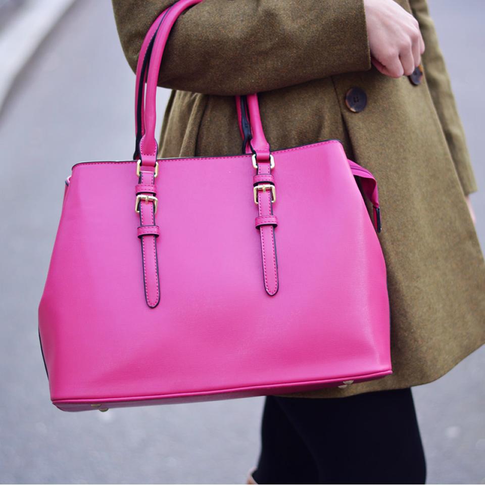 sac rose fushia