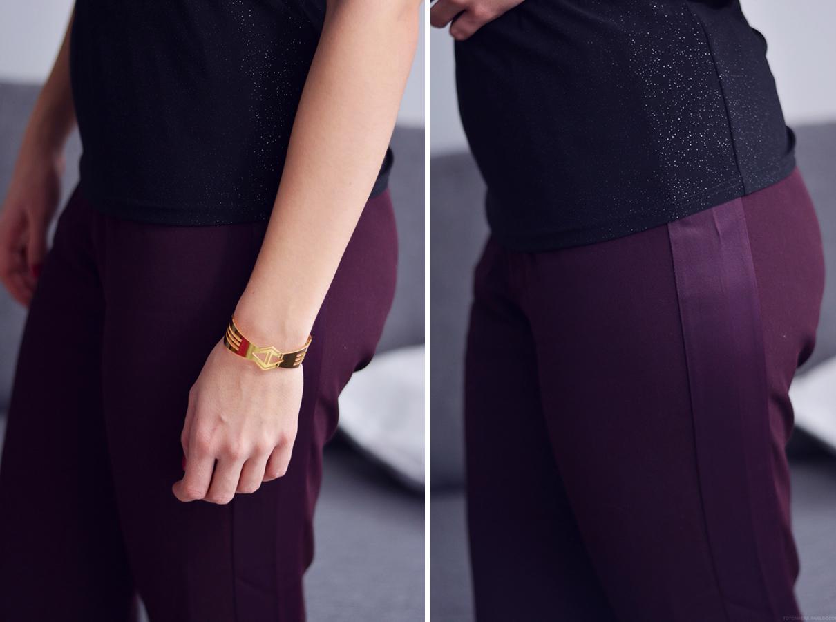 pantalon prune simili cuir