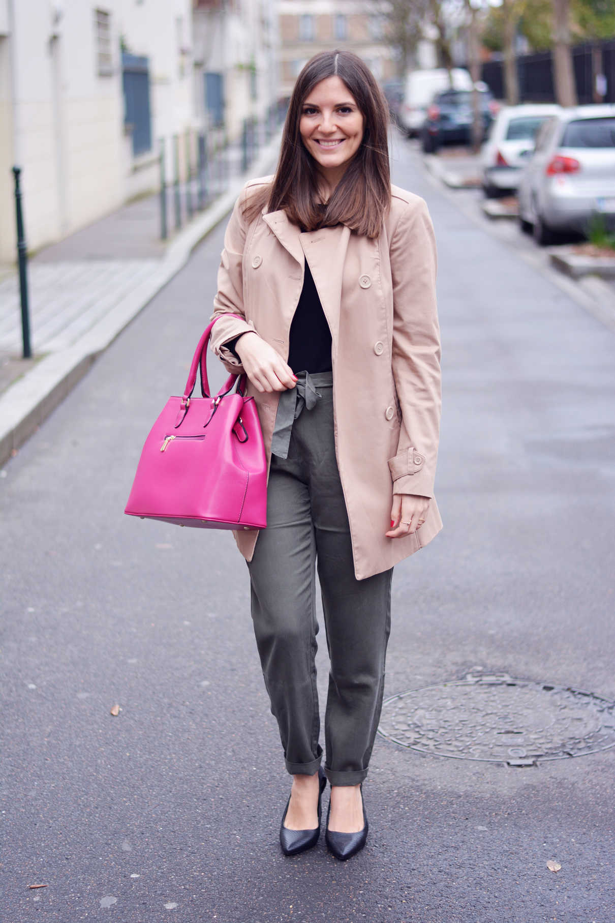 look trench beige