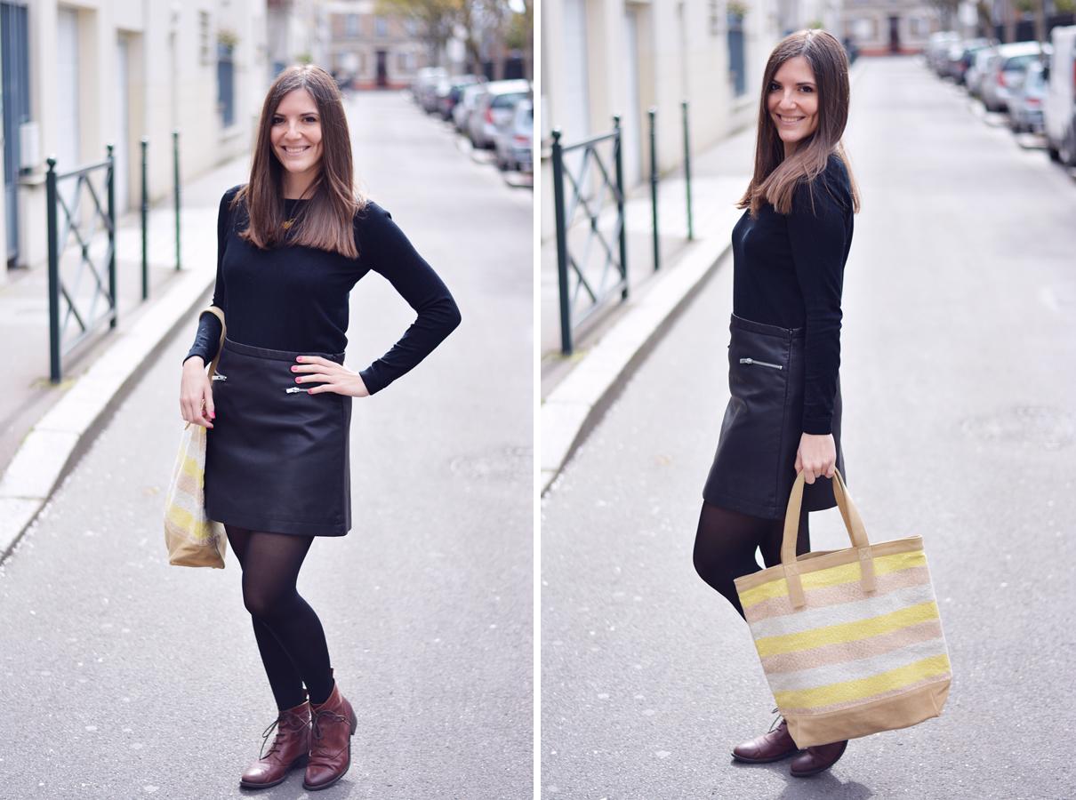 look noir et jaune