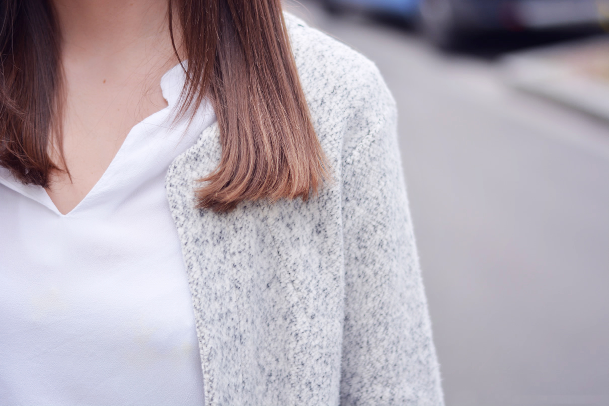 manteau moleton gris clair