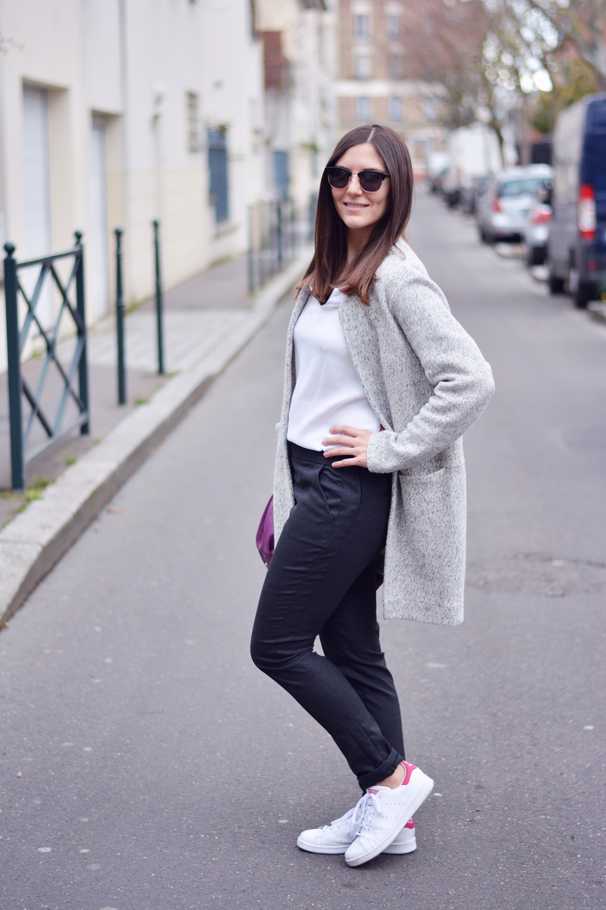 pantalon de costume gris