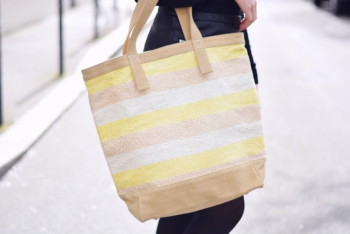 sac jaune de plage