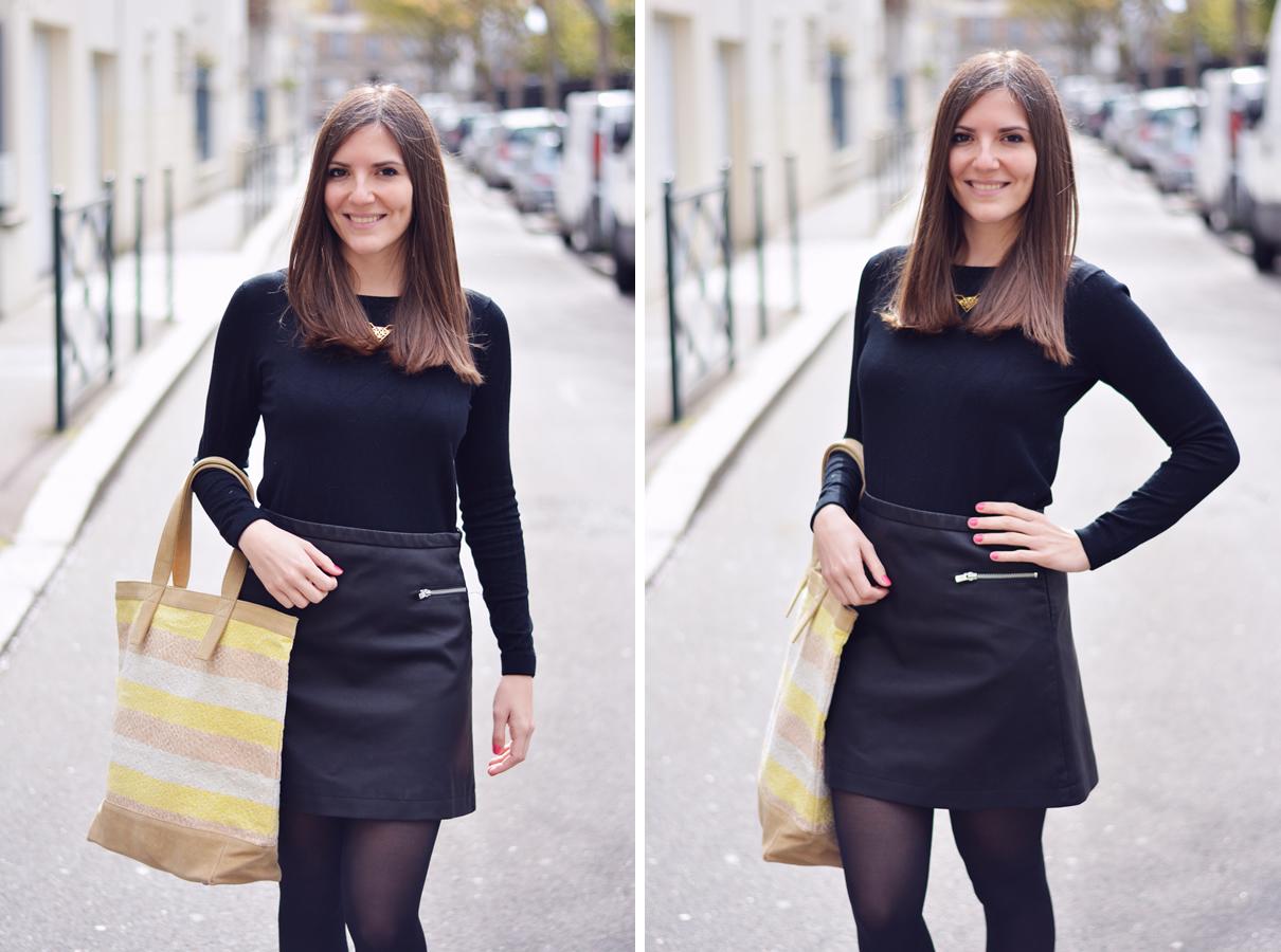 total look noir blogueuse