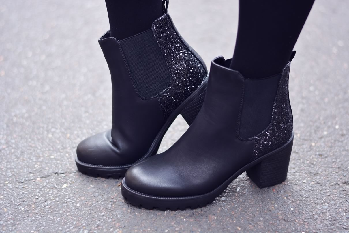 bottines paillettes
