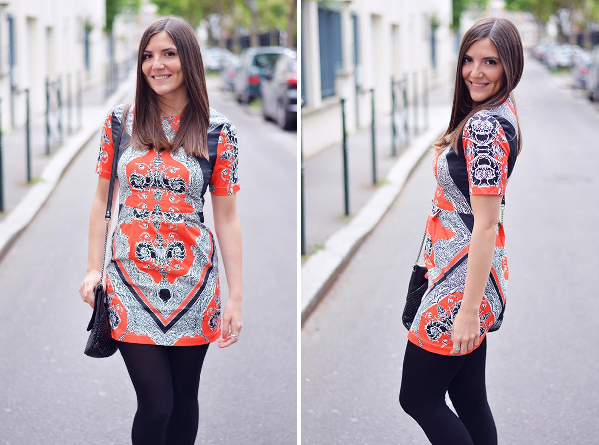 look blogueuse robe orange