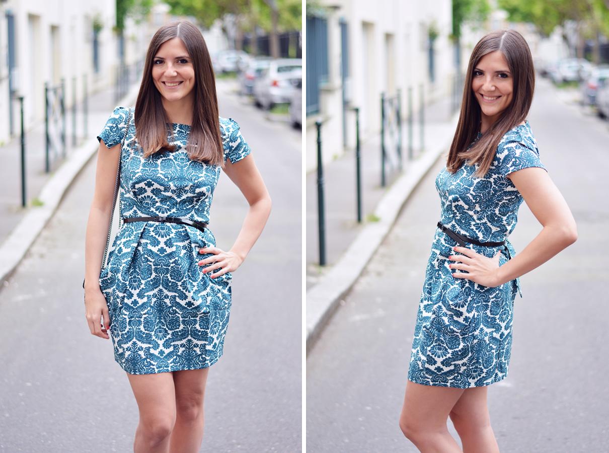 look robe imprimee turquoise