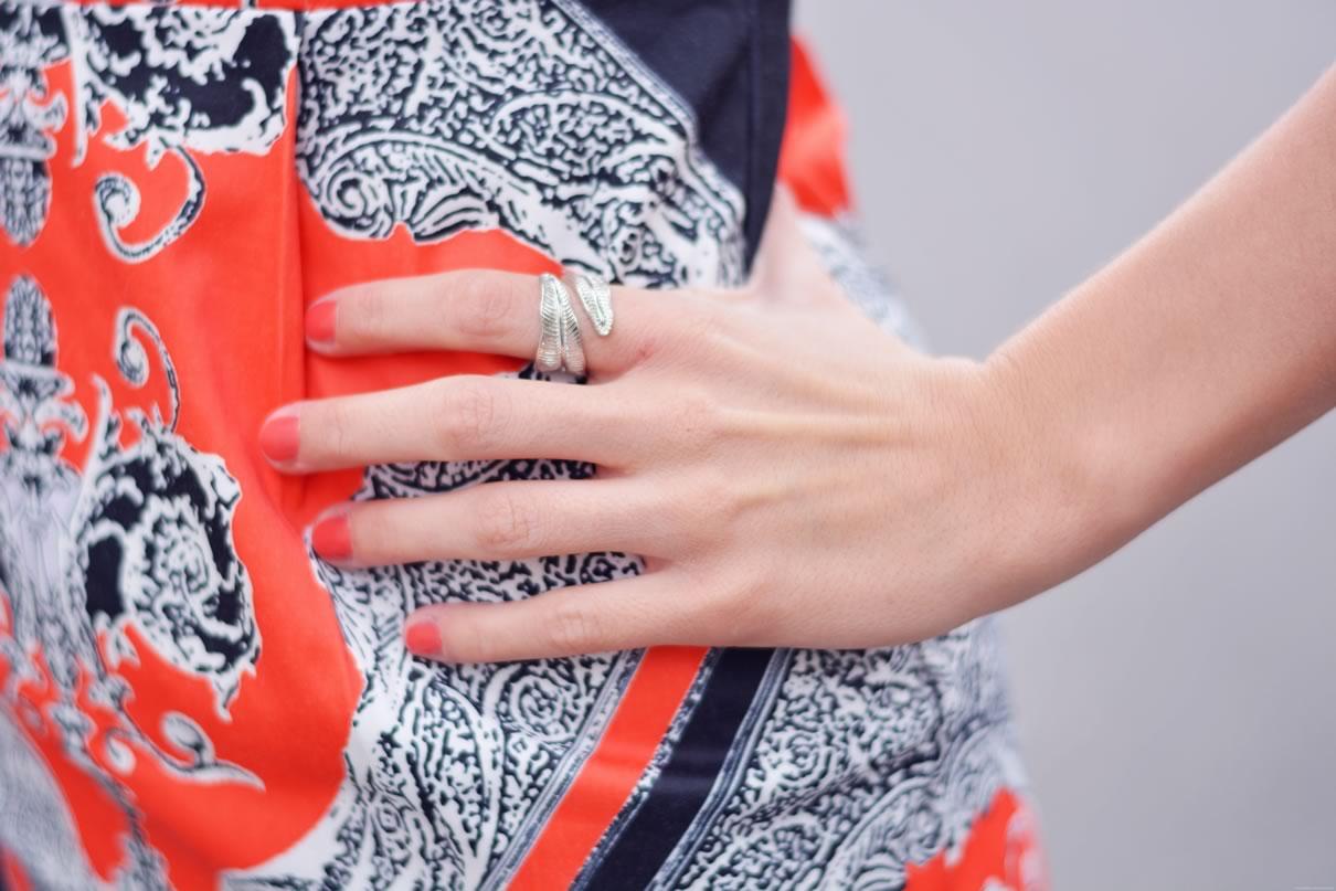 robe orange shein