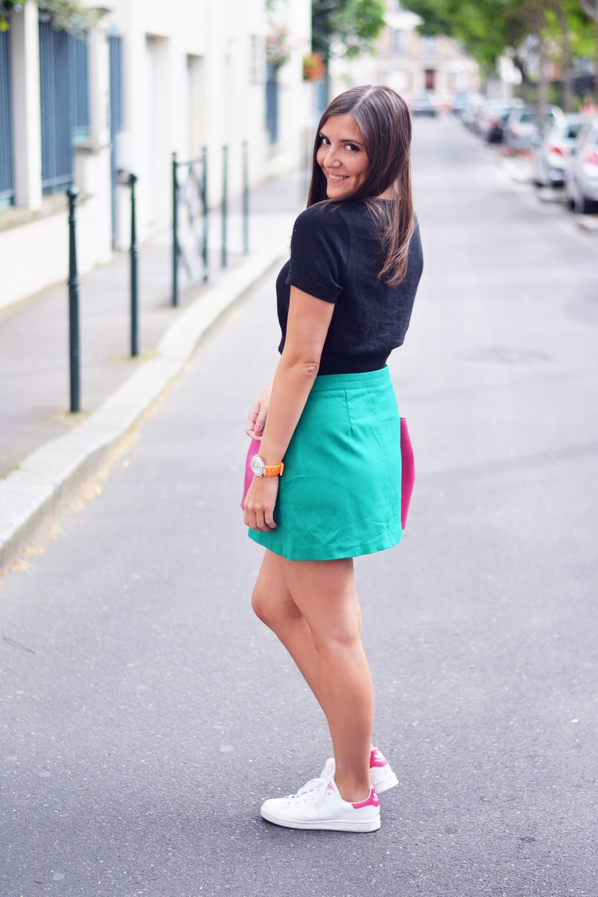 comment porter la jupe verte