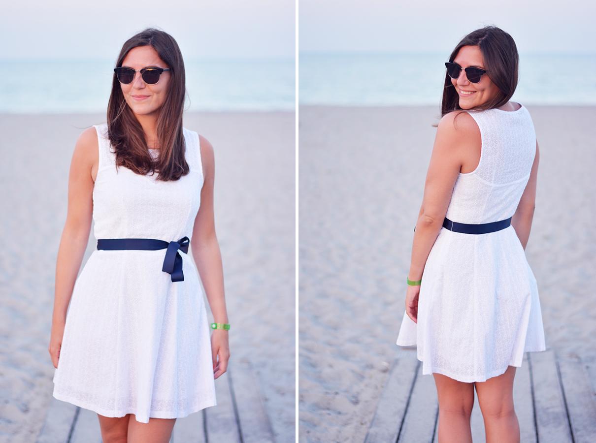 comment porter la robe blanche en dentelle