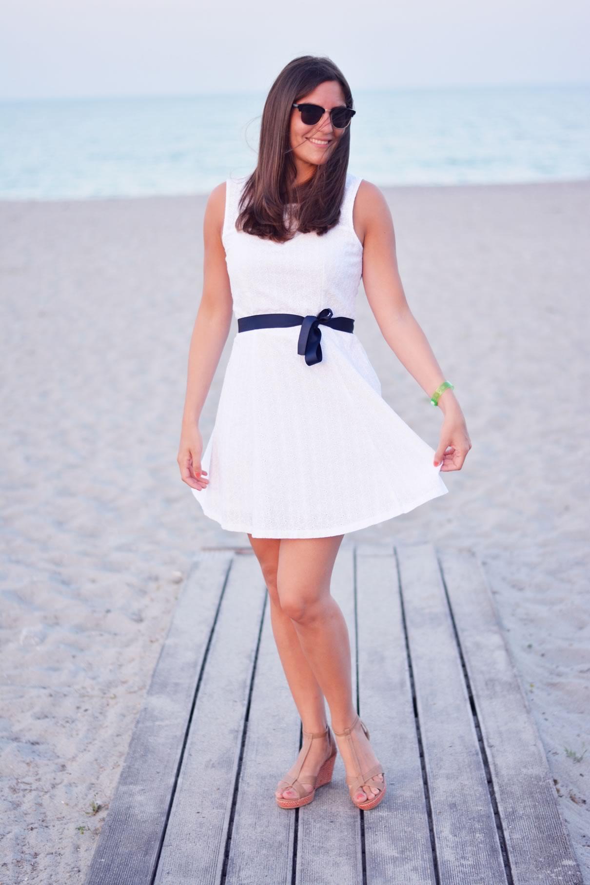 look robe blanche dentelle