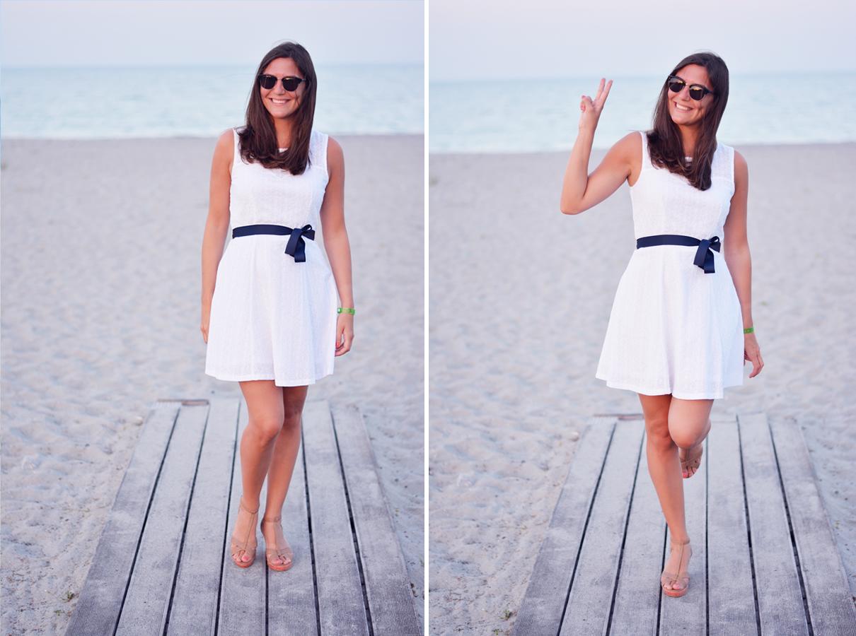 petite robe blanche en dentelle