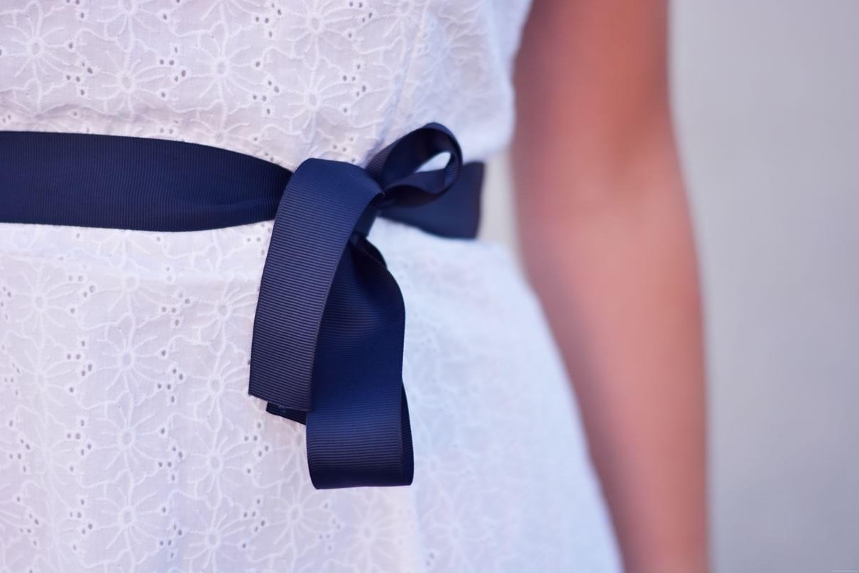 robe ruban bleu