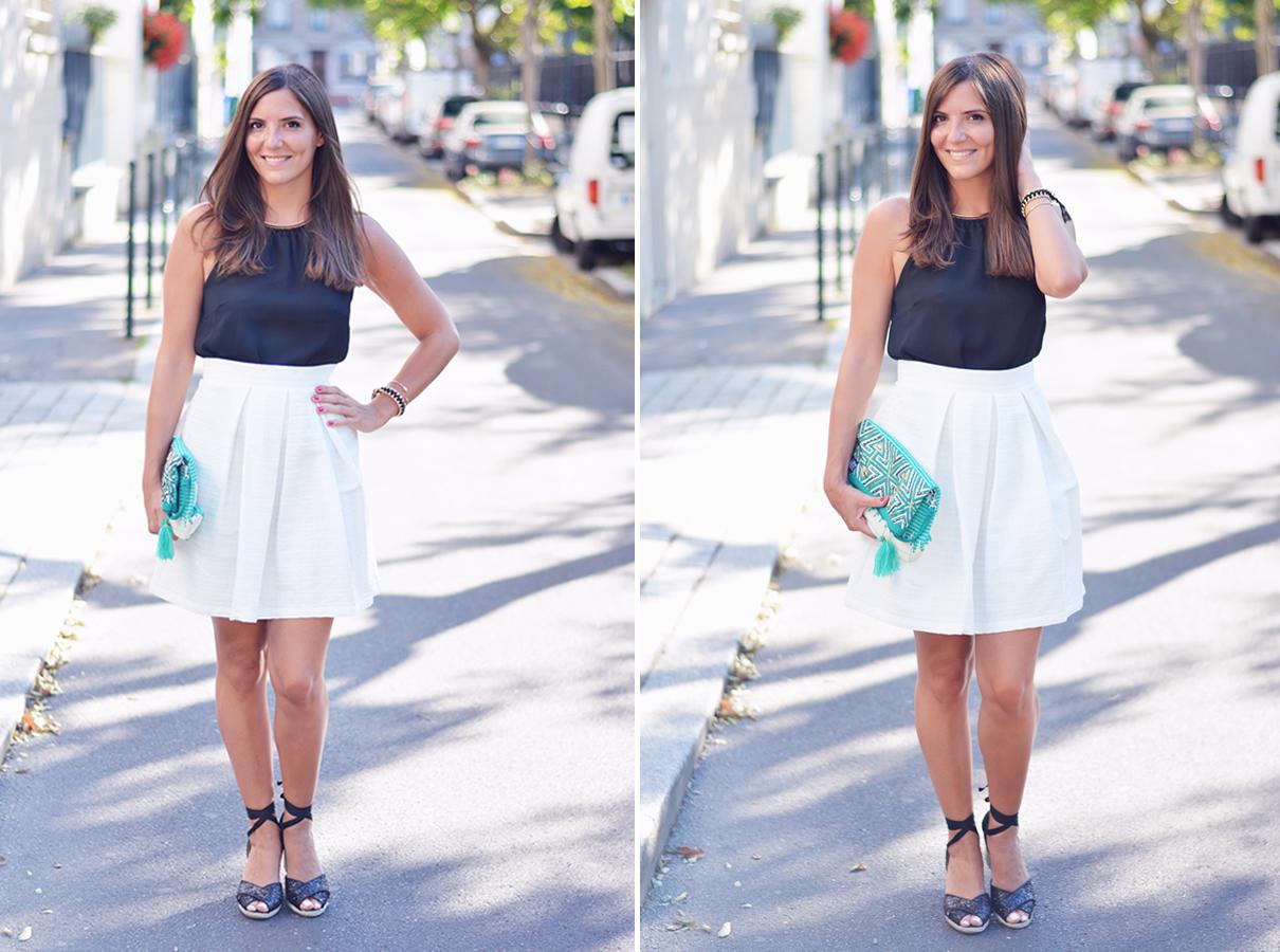 comment porter le noir et blanc chic