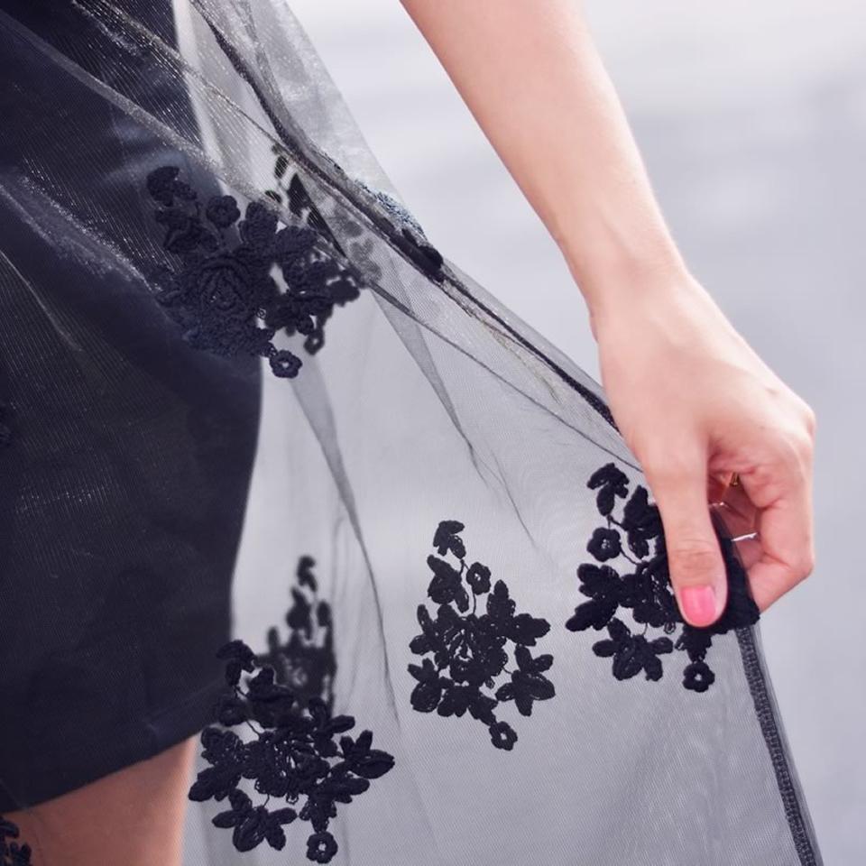 jupe en dentelle noire