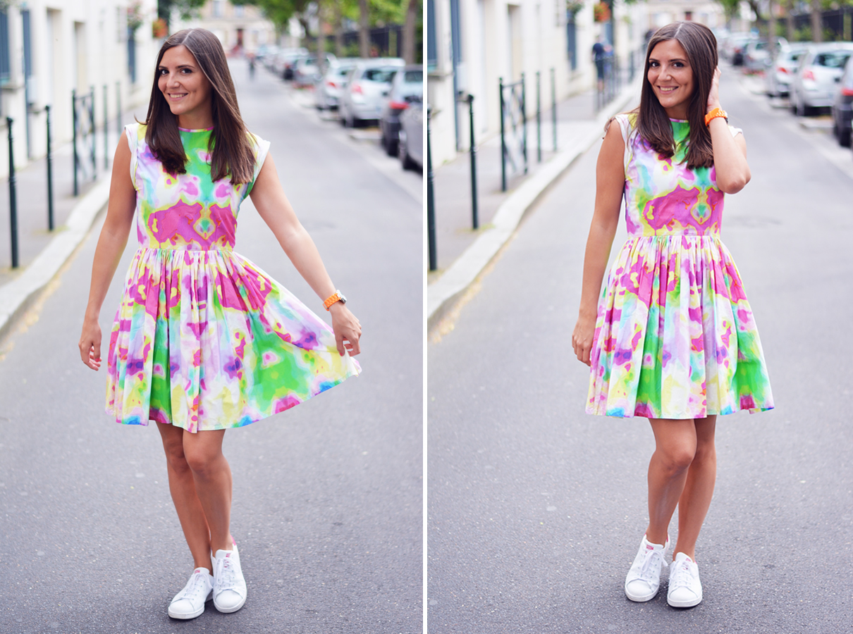 look fashion en rose et jaune