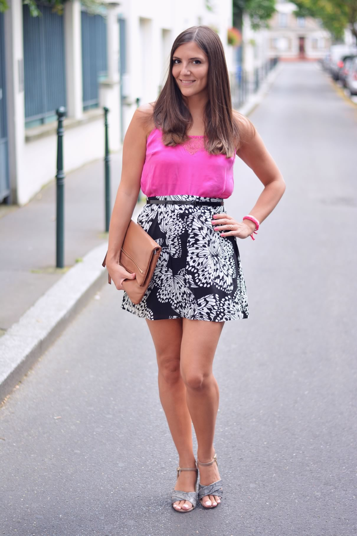 look jupe fleurie