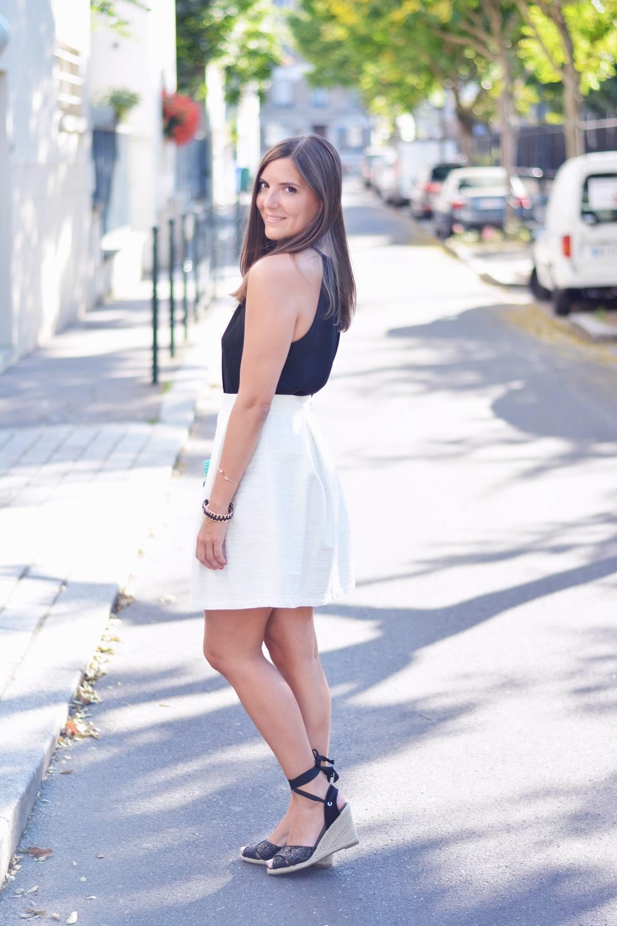 look noir et blanc blog mode