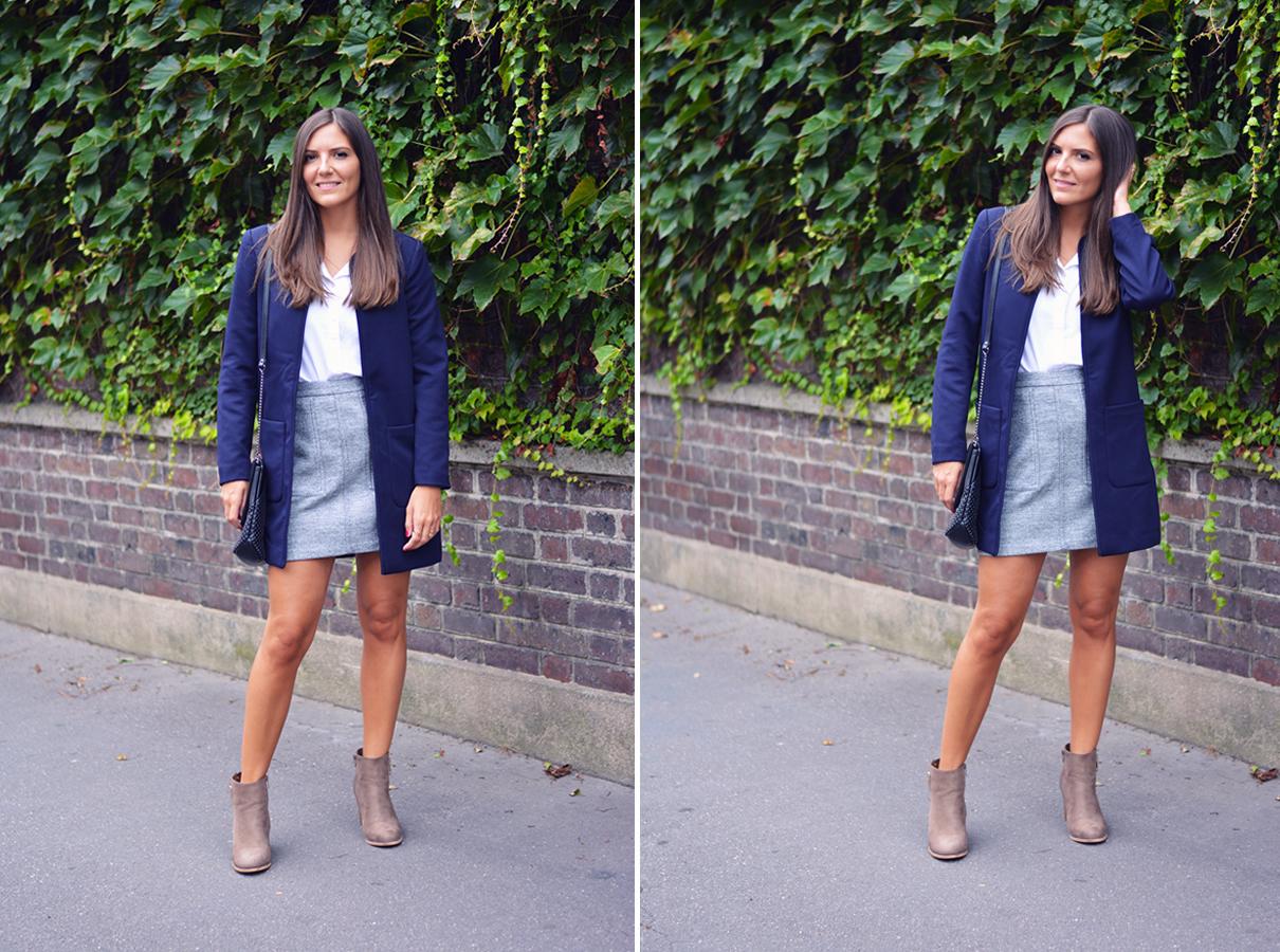 comment porter le manteau bleu