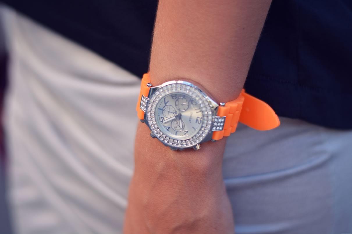 montre orange