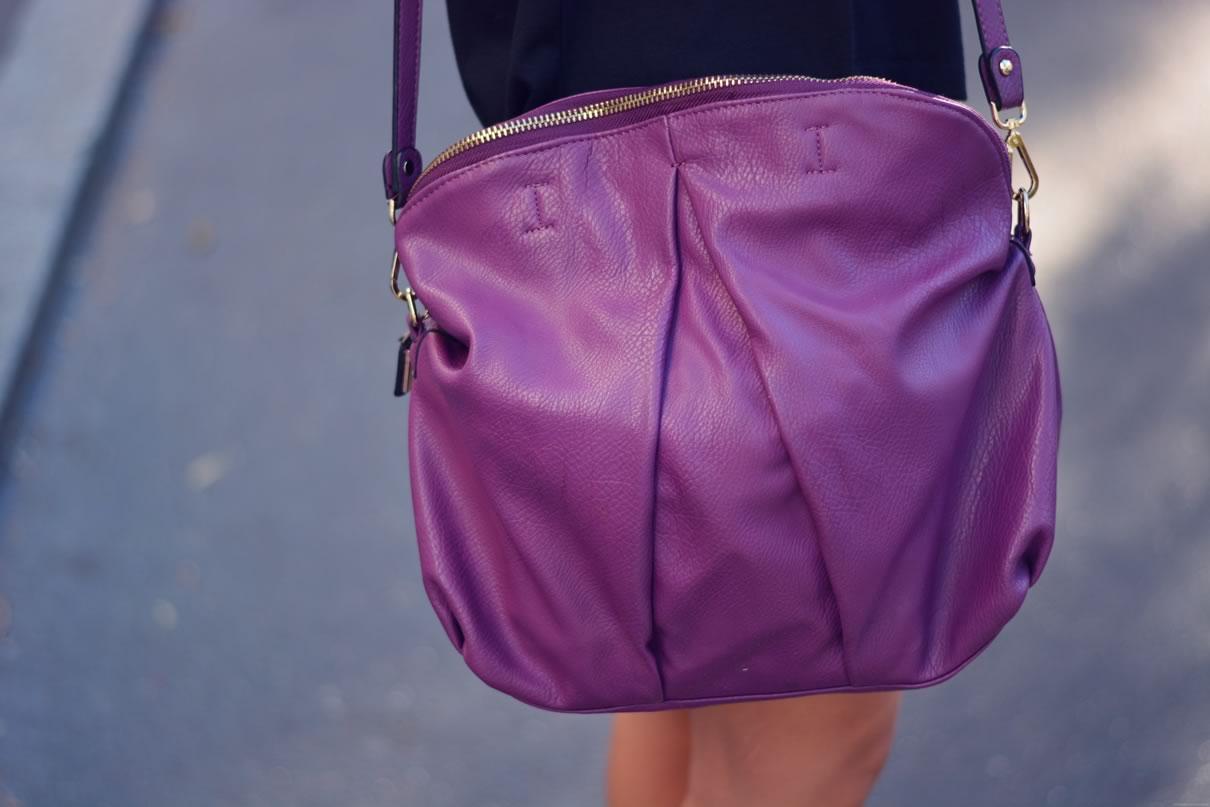 sac a main violet tendance