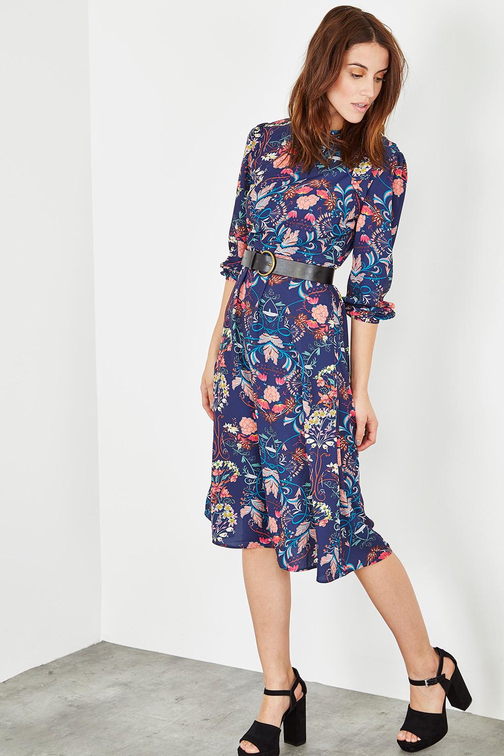 robe fleurie annees 70