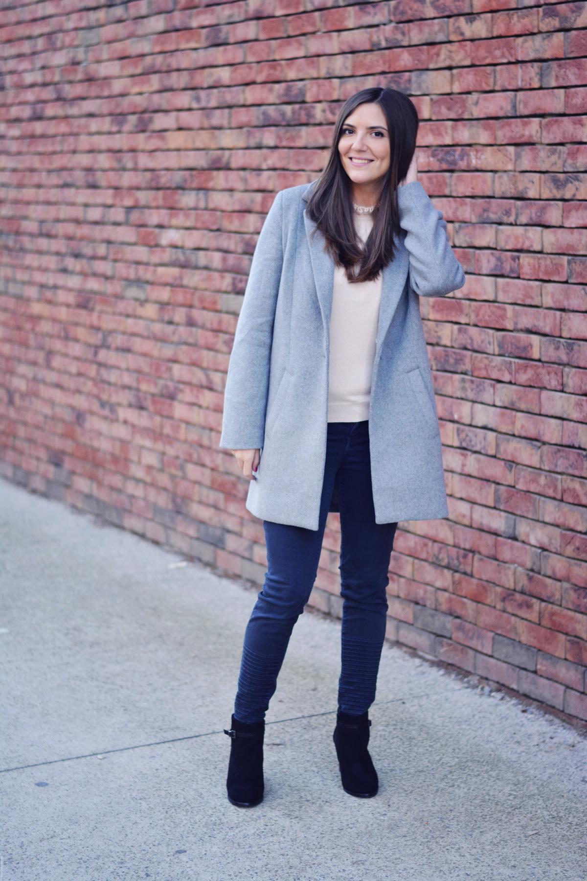 manteau oversize gris