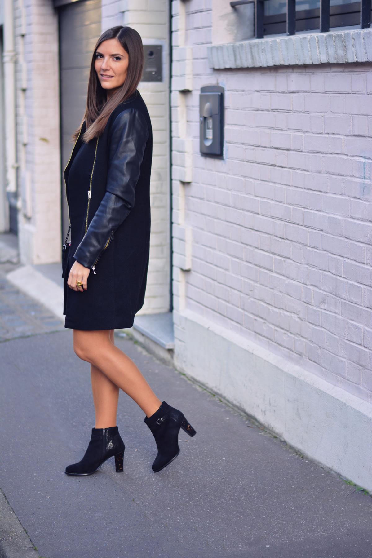 look robe dentelle noire