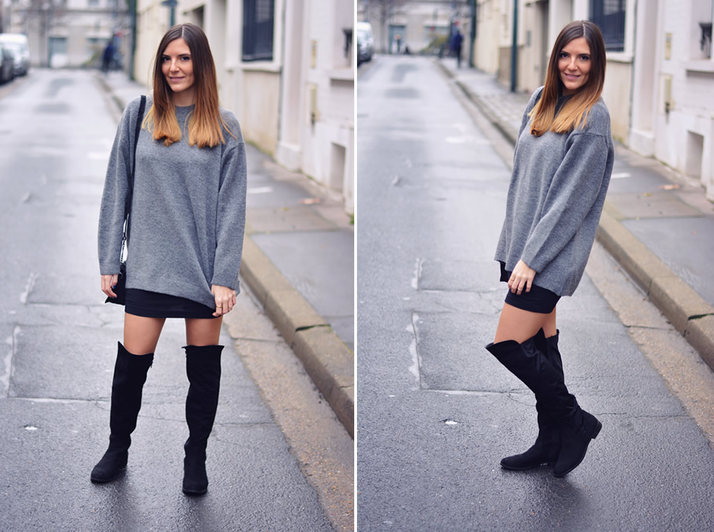 look cuissardes et pull