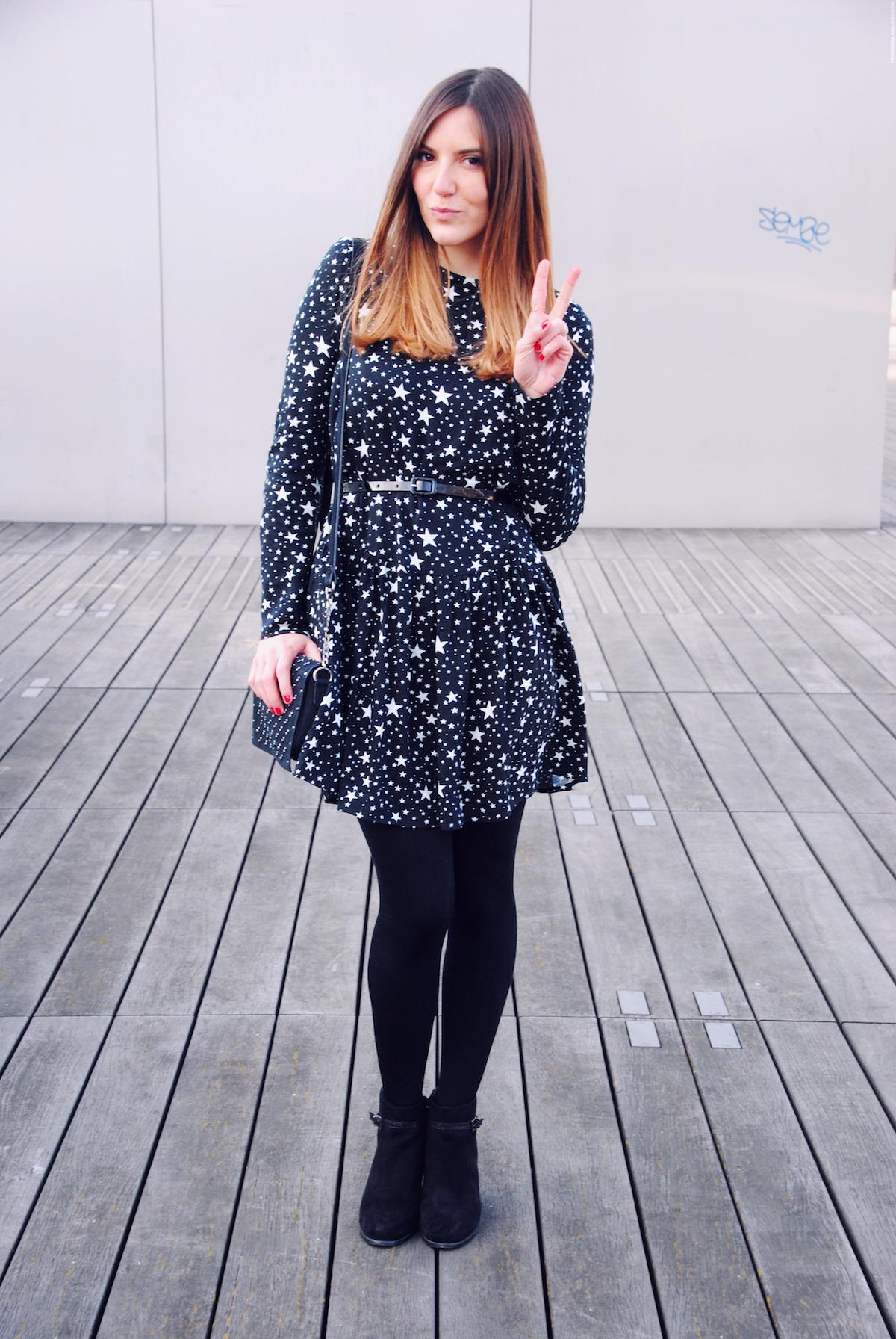 stars printed dress