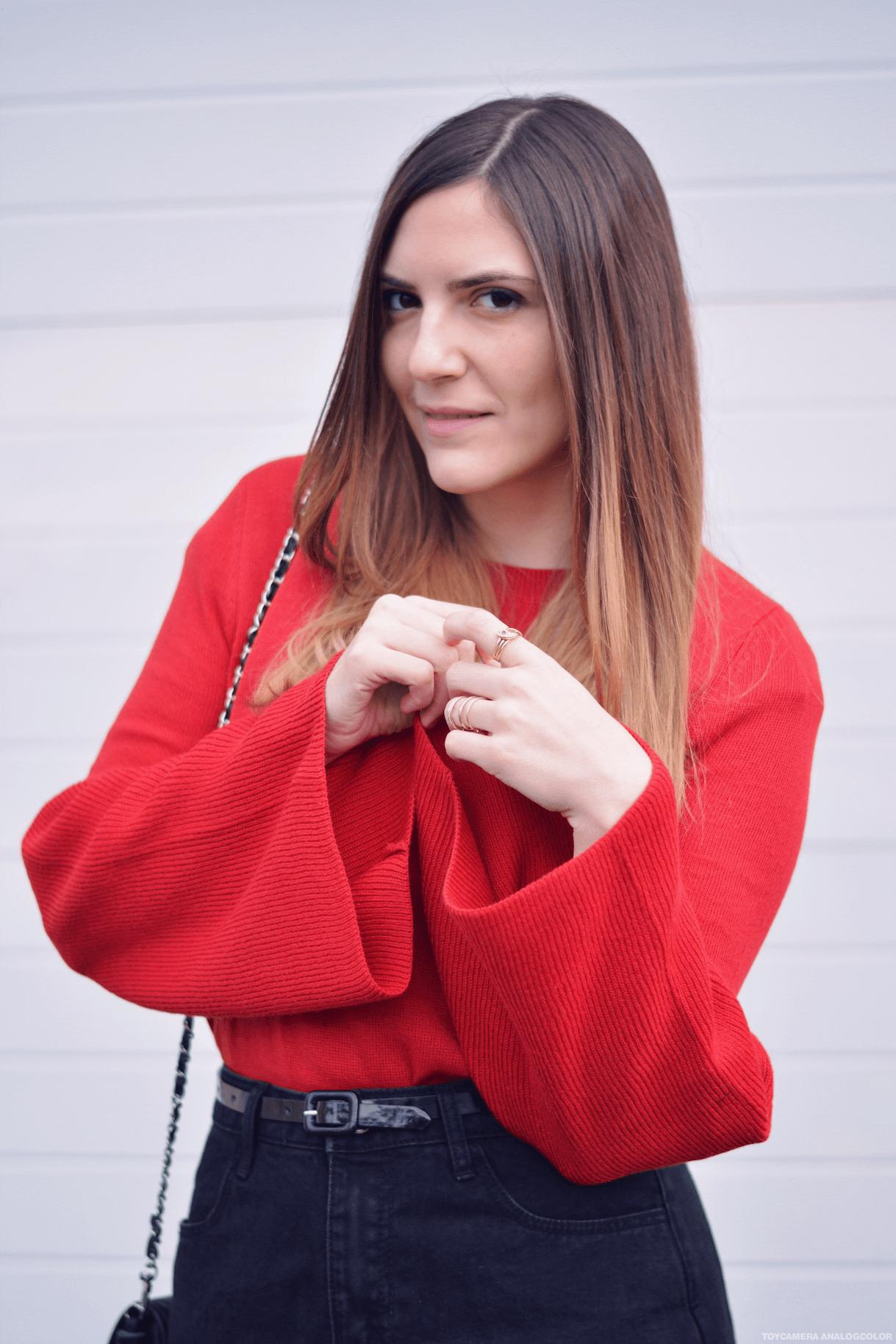 comment porter le pull rouge les capices diris