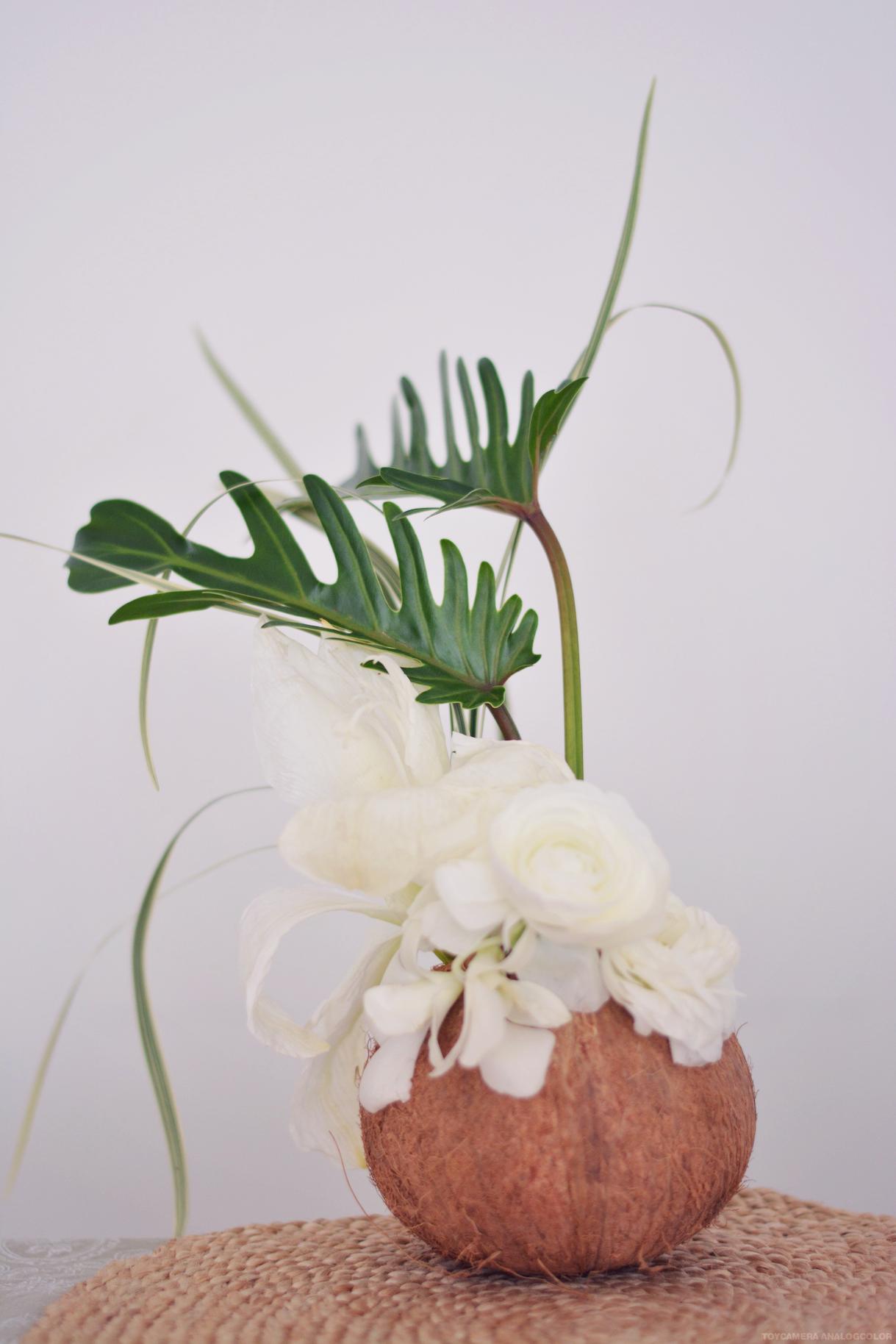composition florale diy